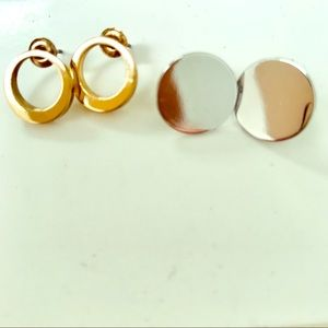 Bundle of 2 COS studs, gold and silver